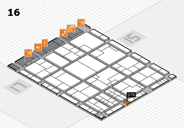 K 2016 Hallenplan (Halle 16): Stand D78