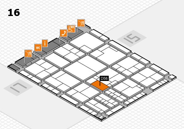 K 2016 Hallenplan (Halle 16): Stand D58