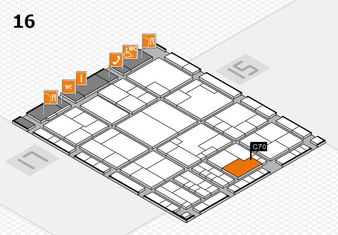 K 2016 hall map (Hall 16): stand C70