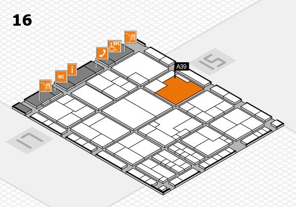 K 2016 Hallenplan (Halle 16): Stand A39