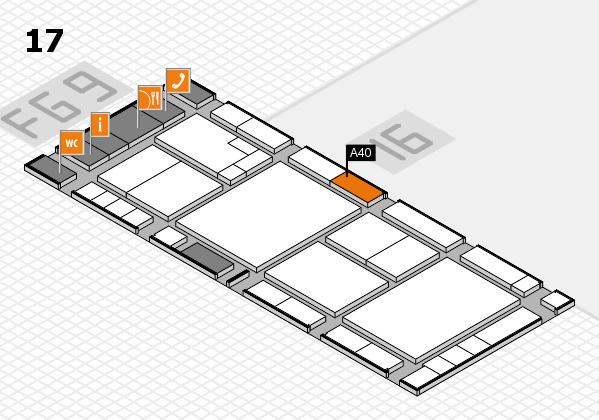 K 2016 hall map (Hall 17): stand A40