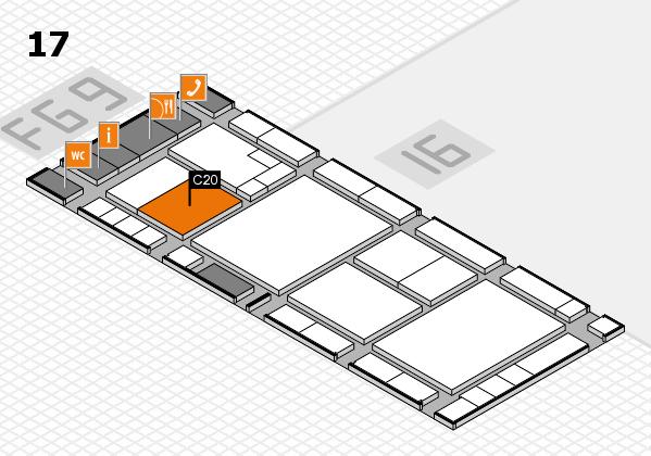 K 2016 hall map (Hall 17): stand C20