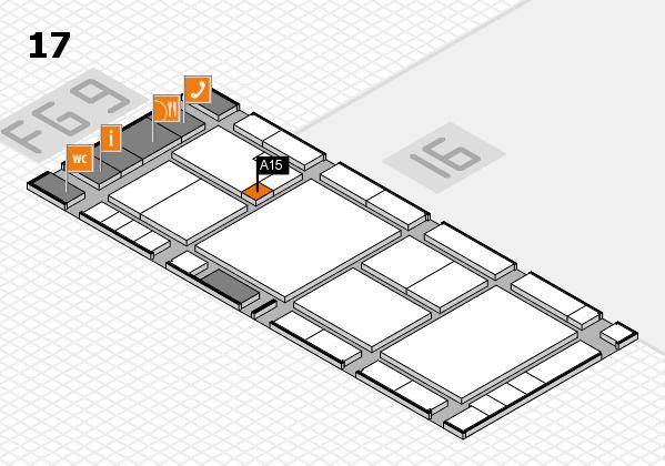 K 2016 hall map (Hall 17): stand A15
