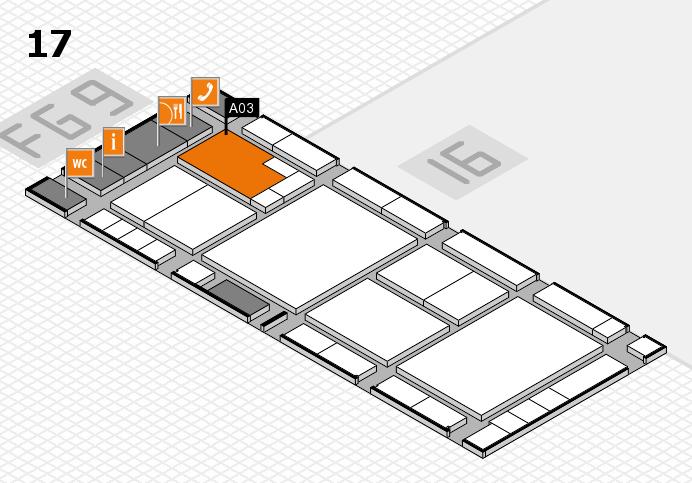 K 2016 hall map (Hall 17): stand A03