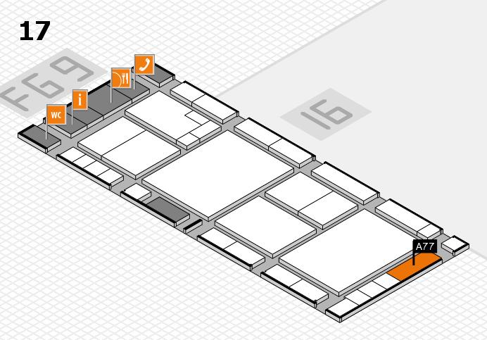 K 2016 hall map (Hall 17): stand A77