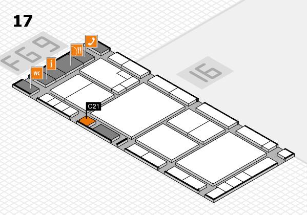 K 2016 hall map (Hall 17): stand C21