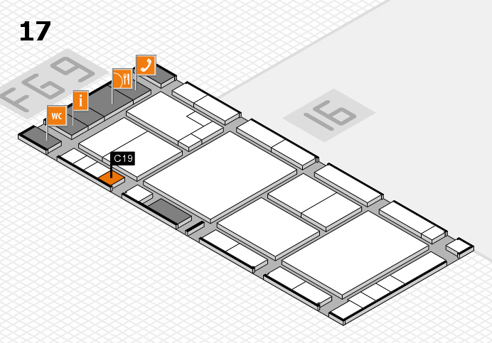 K 2016 hall map (Hall 17): stand C19