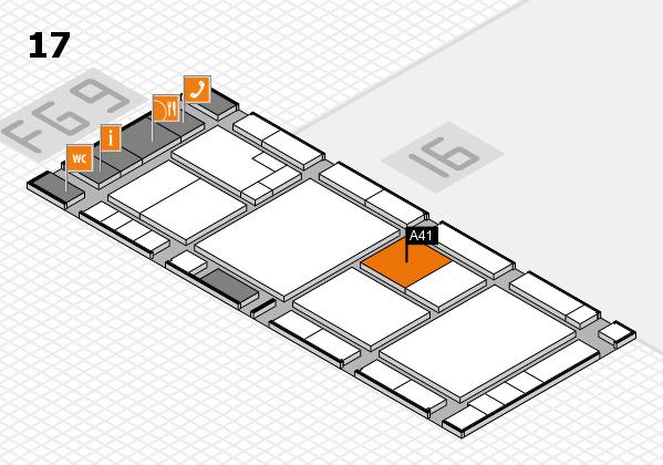 K 2016 hall map (Hall 17): stand A41