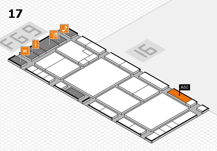 K 2016 hall map (Hall 17): stand A60
