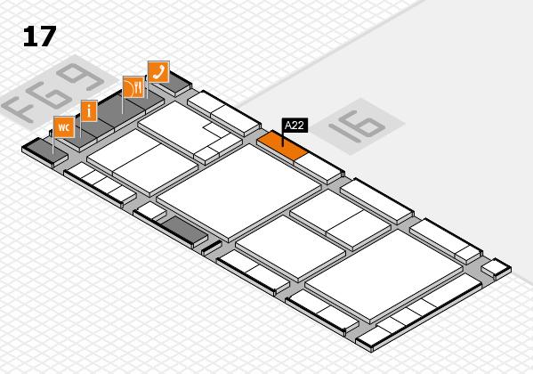 K 2016 Hallenplan (Halle 17): Stand A22
