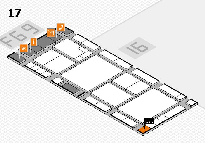 K 2016 hall map (Hall 17): stand C73