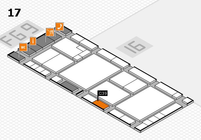 K 2016 hall map (Hall 17): stand C39