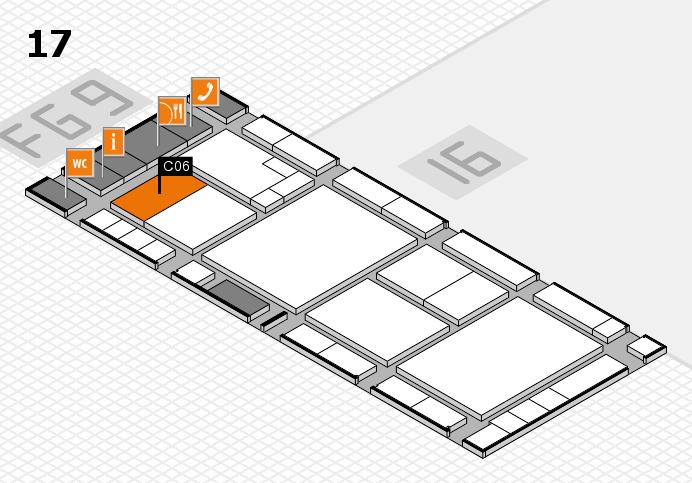K 2016 hall map (Hall 17): stand C06