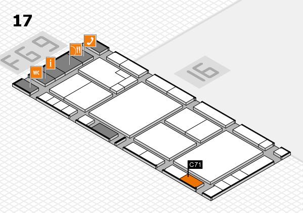 K 2016 hall map (Hall 17): stand C71