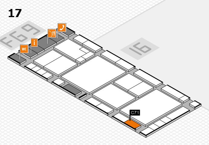 K 2016 Hallenplan (Halle 17): Stand C71
