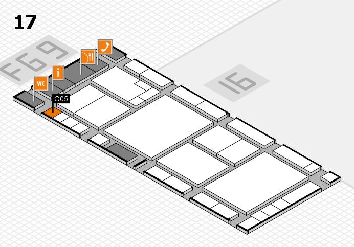 K 2016 hall map (Hall 17): stand C05