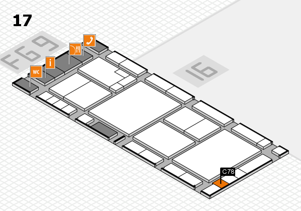 K 2016 hall map (Hall 17): stand C78