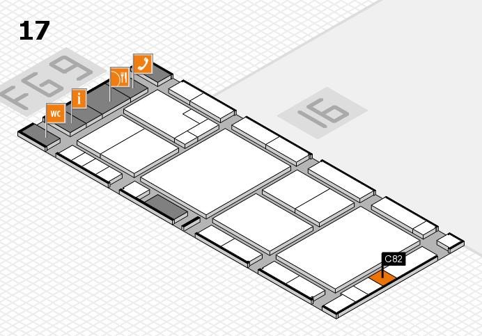 K 2016 hall map (Hall 17): stand C82