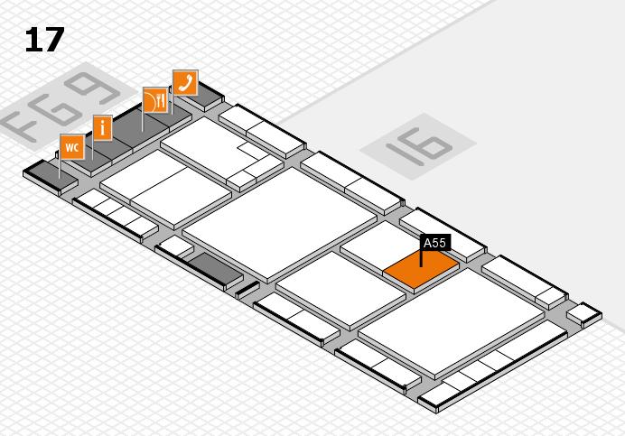 K 2016 hall map (Hall 17): stand A55