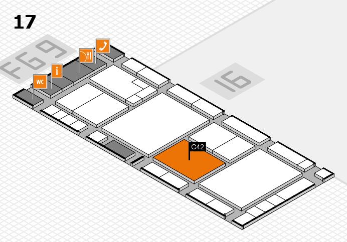 K 2016 hall map (Hall 17): stand C42
