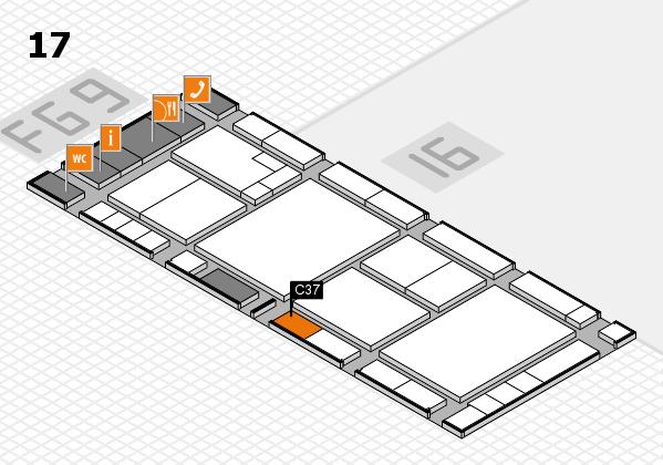 K 2016 hall map (Hall 17): stand C37