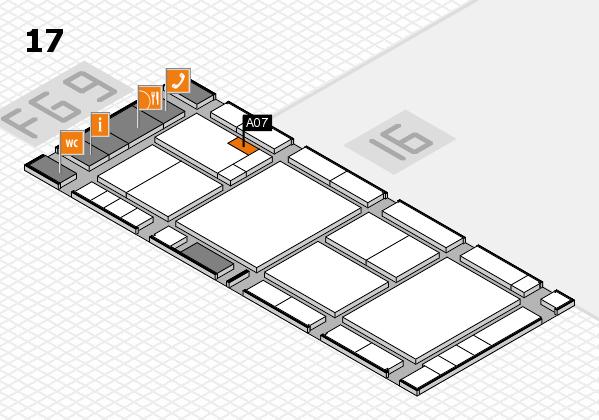 K 2016 hall map (Hall 17): stand A07