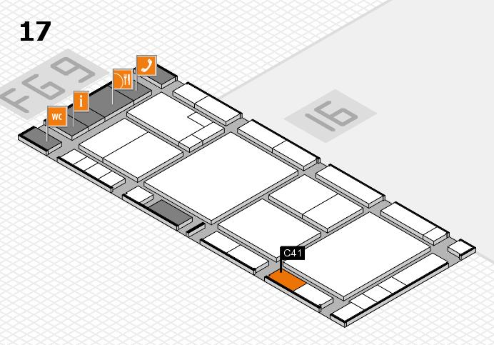 K 2016 hall map (Hall 17): stand C41
