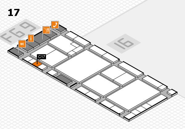 K 2016 hall map (Hall 17): stand C17
