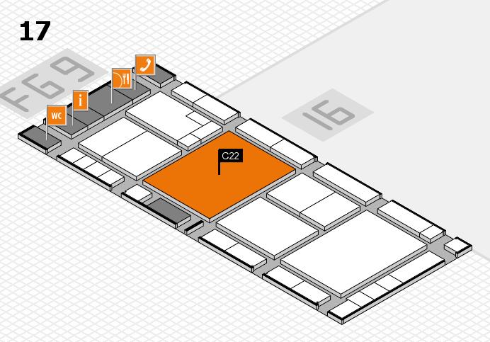 K 2016 hall map (Hall 17): stand C22