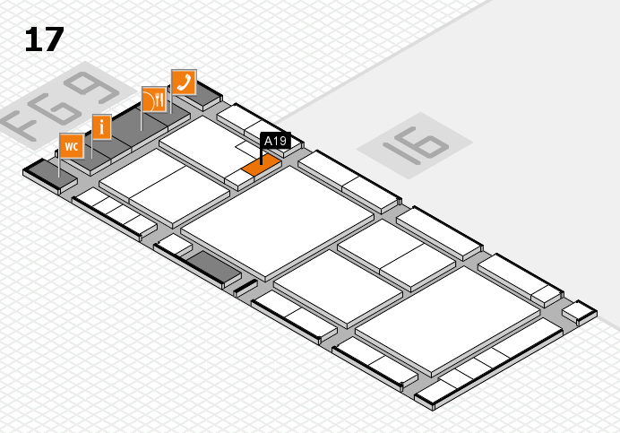 K 2016 hall map (Hall 17): stand A19