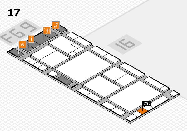 K 2016 hall map (Hall 17): stand C80