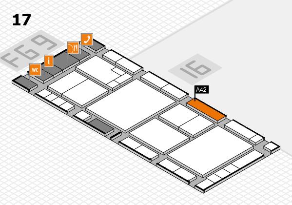 K 2016 Hallenplan (Halle 17): Stand A42