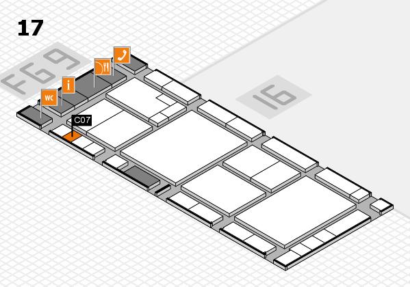 K 2016 hall map (Hall 17): stand C07