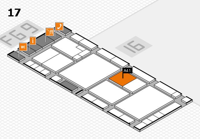 K 2016 Hallenplan (Halle 17): Stand A41