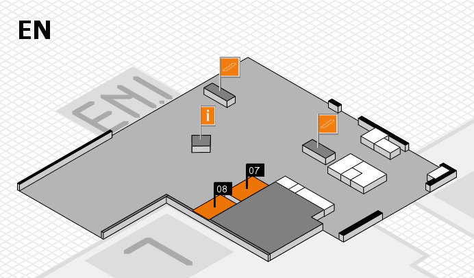K 2016 hall map (North Entrance): stand 07, stand 08