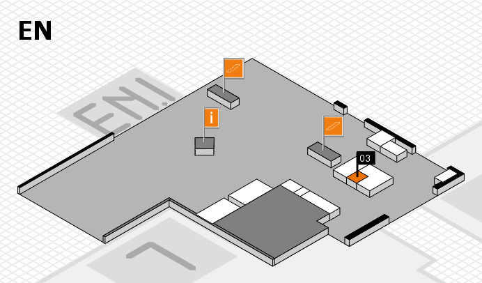 K 2016 hall map (North Entrance): stand 03