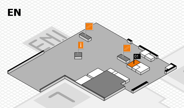 K 2016 hall map (North Entrance): stand 01