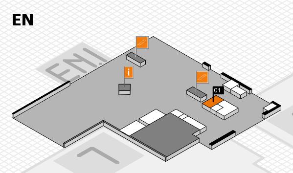 K 2016 Hallenplan (Eingang Nord): Stand 01