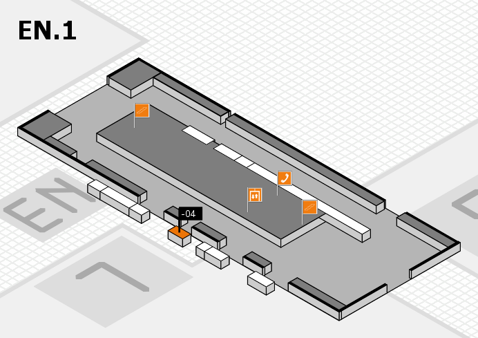 K 2016 hall map (North Entrance 1): stand -04