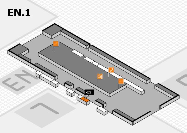 K 2016 Hallenplan (Eingang Nord 1): Stand -03