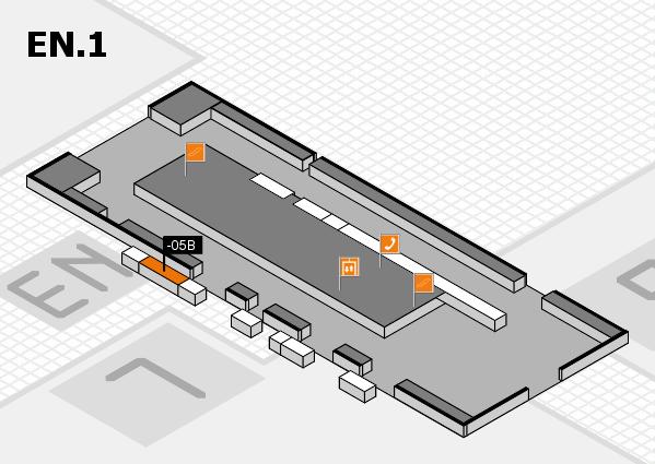 K 2016 Hallenplan (Eingang Nord 1): Stand -05B