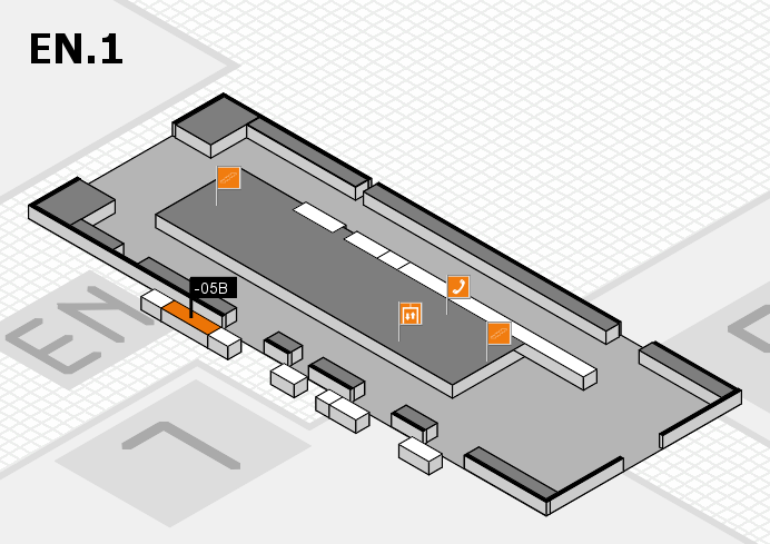 K 2016 hall map (North Entrance 1): stand -05B