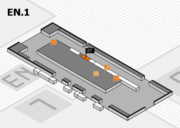K 2016 hall map (North Entrance 1): stand -07
