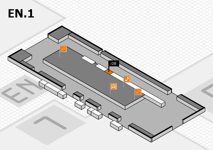 K 2016 hall map (North Entrance 1): stand -08