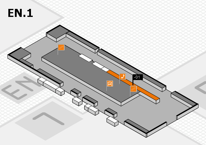 K 2016 hall map (North Entrance 1): stand -01