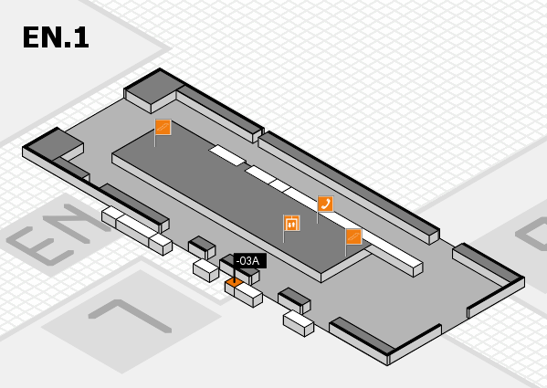 K 2016 hall map (North Entrance 1): stand -03A
