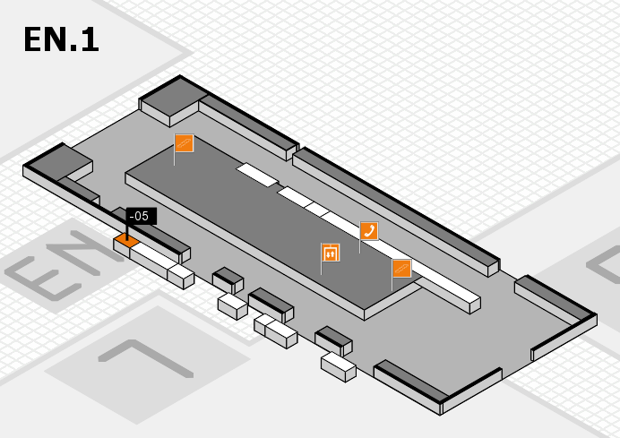 K 2016 hall map (North Entrance 1): stand -05
