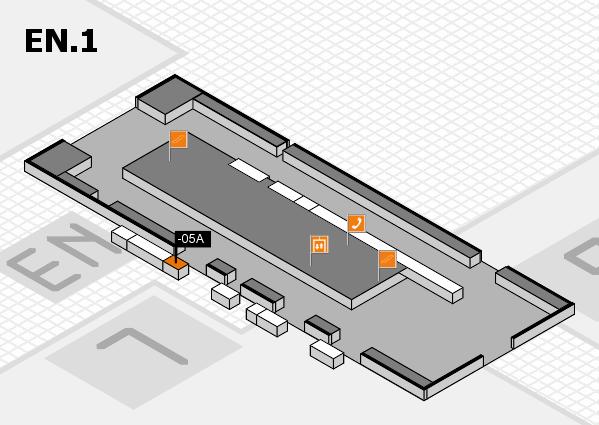 K 2016 Hallenplan (Eingang Nord 1): Stand -05A