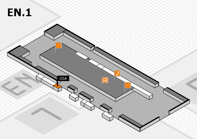 K 2016 hall map (North Entrance 1): stand -05A