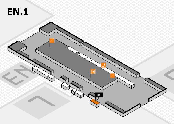 K 2016 Hallenplan (Eingang Nord 1): Stand -02